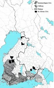 Påsk liten karta på svenska